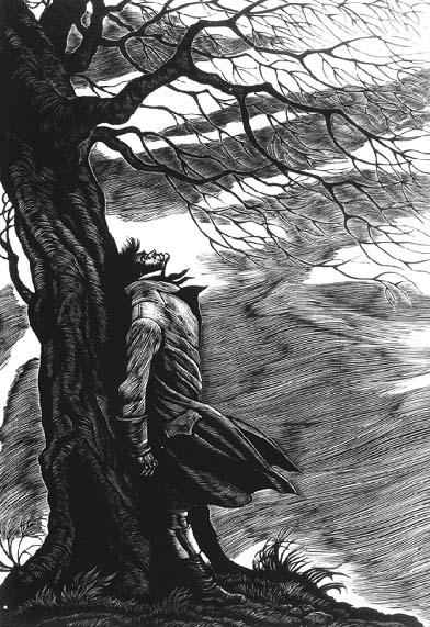 1943 Fritz Eichenberg etching of Heathcliff